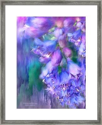 Delphinium Abstract Framed Print by Carol Cavalaris
