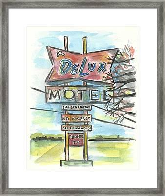 Delux Motel Framed Print by Matt Gaudian