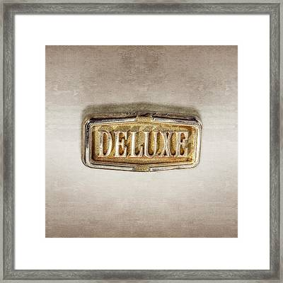 Deluxe Chrome Emblem Framed Print by YoPedro