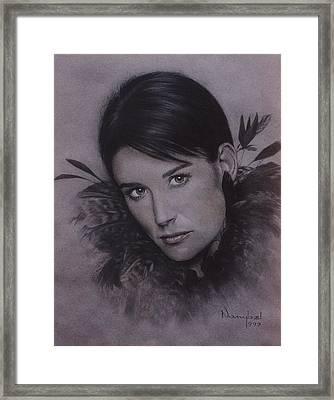 Demi Framed Print by Nanybel Salazar
