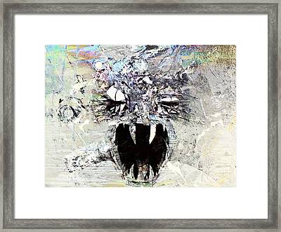 Demon Under The Bed Framed Print by Robert Ball