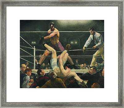 Dempsey And Firpo Boxing - George Bellows  Framed Print by War Is Hell Store