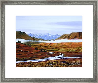 Denali Autumn Framed Print by Mary Rogers