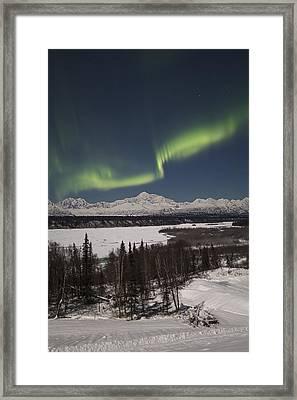 Denali Whisper Framed Print by Ed Boudreau