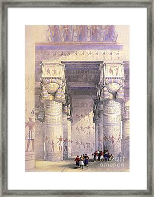 Dendera Temple Complex, 1930s Framed Print by Science Source