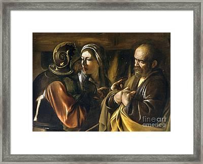 Denial Of Saint Peter Framed Print by Celestial Images