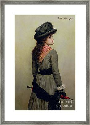 Denise Framed Print by Herbert Schmalz