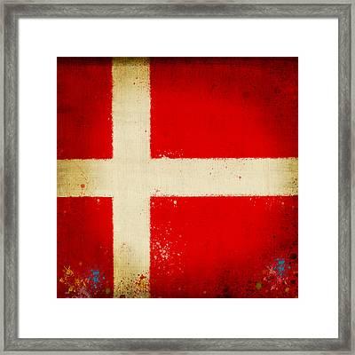 Denmark Flag Framed Print by Setsiri Silapasuwanchai