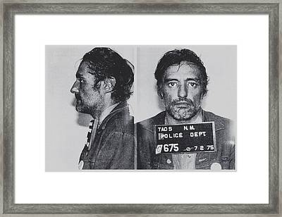 Dennis Hopper Mug Horizontal Framed Print by Tony Rubino