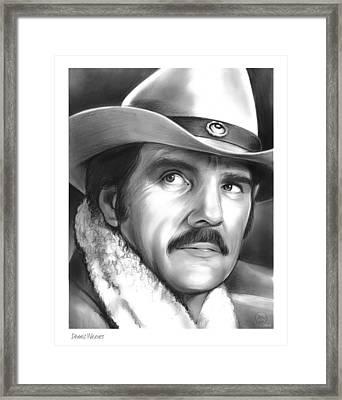 Dennis Weaver Framed Print by Greg Joens