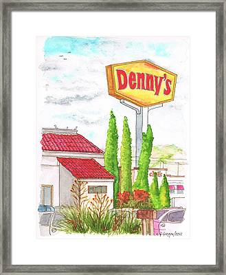 Denny's Coffee Shop In Barstow - California Framed Print by Carlos G Groppa