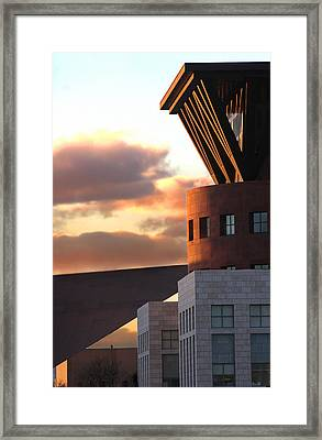 Denver Art Museum And Library Framed Print by Jeff Ball