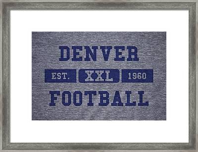 Denver Broncos Retro Shirt Framed Print by Joe Hamilton