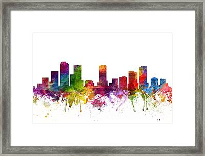 Denver Cityscape 06 Framed Print by Aged Pixel