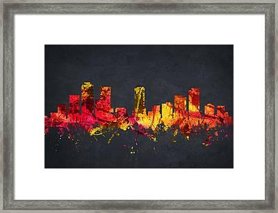 Denver Cityscape 07 Framed Print by Aged Pixel