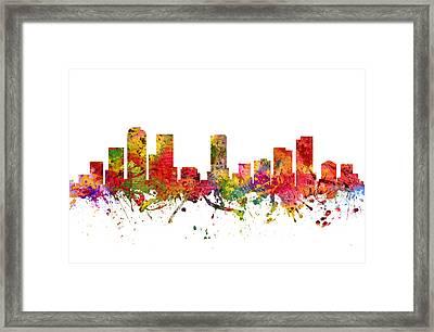 Denver Cityscape 08 Framed Print by Aged Pixel