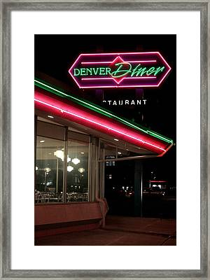 Denver Diner Framed Print by Jeff Ball
