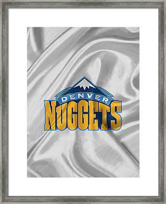 Denver Nuggets Framed Print by Afterdarkness