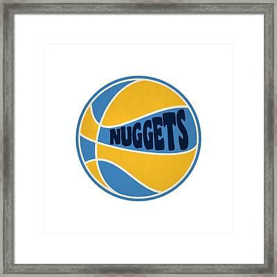 Denver Nuggets Retro Shirt Framed Print by Joe Hamilton