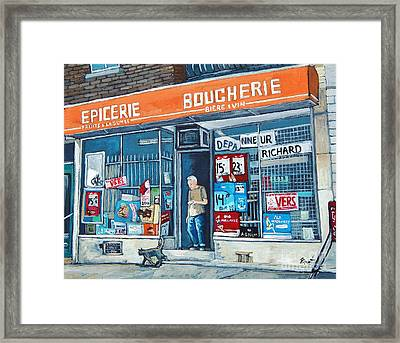 Depanneur Richard Framed Print by Reb Frost