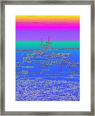 Departing Ferry Framed Print by Tim Allen