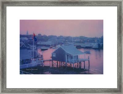 Departing Nantucket Framed Print by Bill McEntee