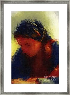 Depression And Grief Framed Print by Deborah MacQuarrie-Haig