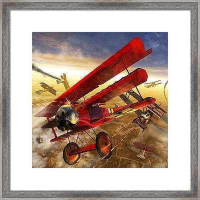 Der Rote Baron Framed Print by Kurt Miller