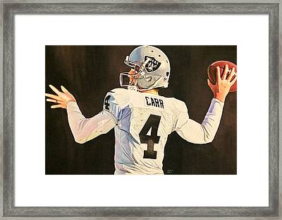 Derek Carr Oakland Raiders  Framed Print by Michael  Pattison