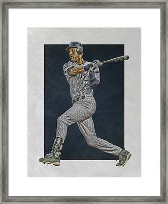 Derek Jeter New York Yankees Art 2 Framed Print by Joe Hamilton