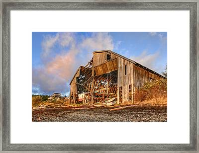 Derelict Boatshed Framed Print by Darryl Luscombe