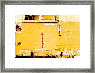Derelict Building Wall Framed Print by Tom Gowanlock