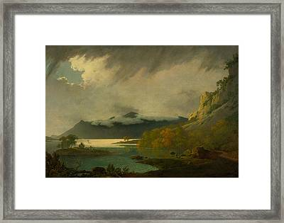 Derwent Water, With Skiddaw In The Distance Framed Print by Joseph Wright