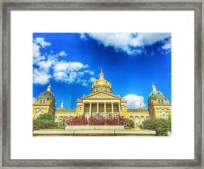 Des Moines-capital City Framed Print by Jame Hayes