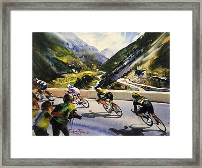 Descending The Alps Framed Print by Shirley Peters