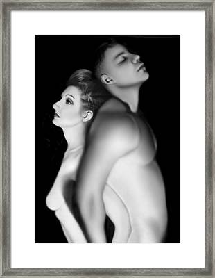 Desdemona And Othello - Engaged And Entwined Framed Print by Jaeda DeWalt