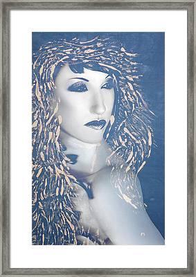 Desdemona Blue - Self Portrait Framed Print by Jaeda DeWalt