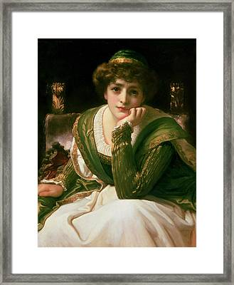 Desdemona Framed Print by Frederic Leighton