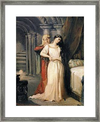 Desdemona Retiring To Her Bed Framed Print by MotionAge Designs