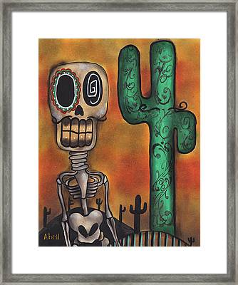 Desert Framed Print by  Abril Andrade Griffith