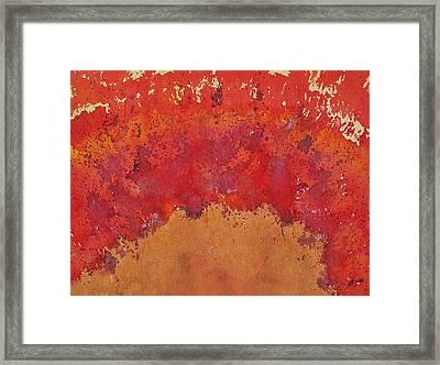 Desert Arch Original Painting Framed Print by Sol Luckman