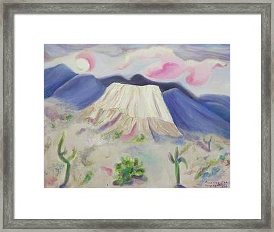 Desert Cactus Pink And Purple Framed Print by Suzanne  Marie Leclair