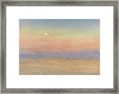 Desert Caravan Framed Print by William James Laidlay