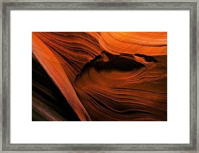 Desert Carvings Framed Print by Mike  Dawson