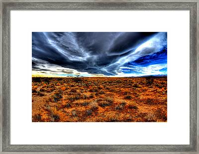 Desert Clouds Framed Print by Tom Melo