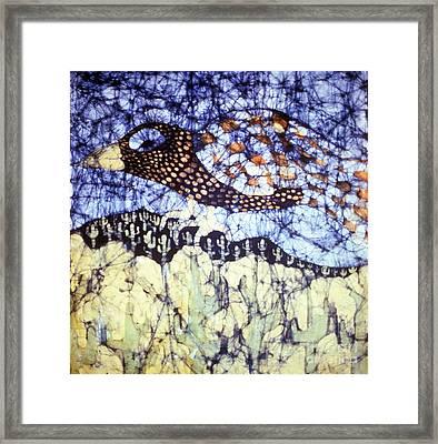 Desert Crow Framed Print by Carol Law Conklin