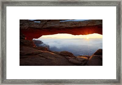 Desert Fog Framed Print by Chad Dutson