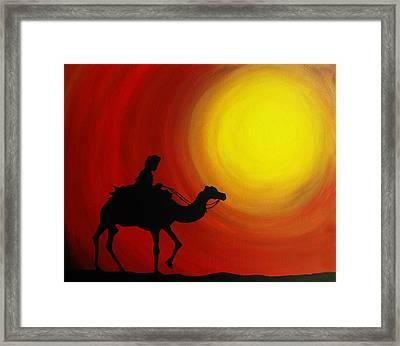 Desert King Framed Print by Ramneek Narang