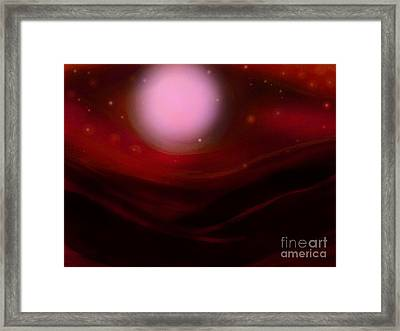 Desert Moon Framed Print by Roxy Riou