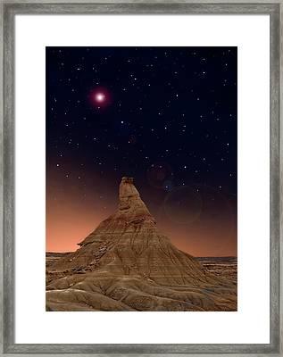 Desert Night Framed Print by Inigo Cia